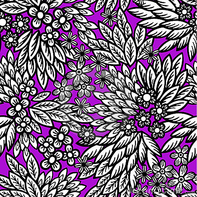 Tribal leaf floral