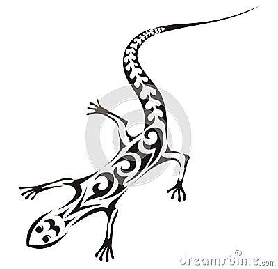 Lizard Tattoo Designs on Tribal Lizard Tattoo Thumb11065410 Jpg