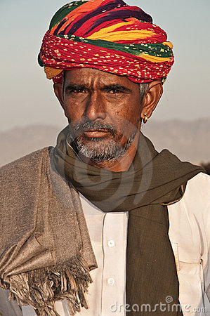 Tribal man of Rajasthan Editorial Photo