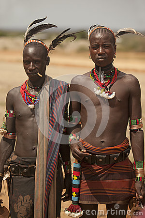 African tribal men  Editorial Photo