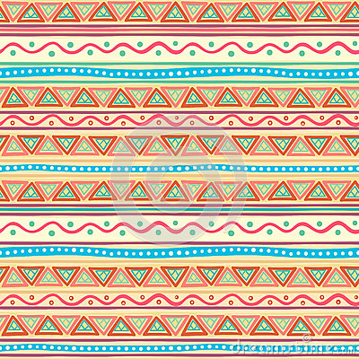 Tribal multicolored striped pattern