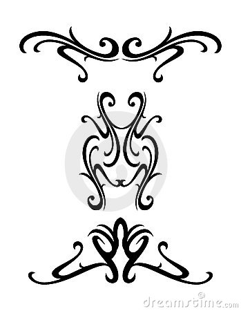 Tribal ornamental design