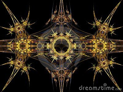 Tribal pattern fractal