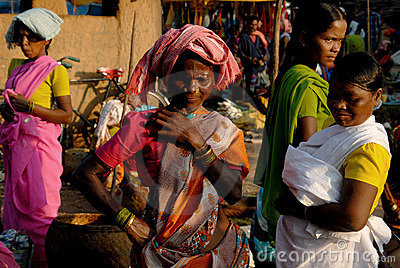 Tribal People in India Editorial Photo