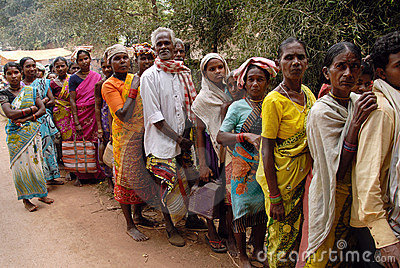 Tribal People in India Editorial Image