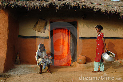 Tribal People in India Editorial Stock Image