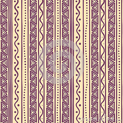 Tribal purple striped pattern