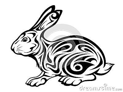 Tribal Rabbit Tattoo