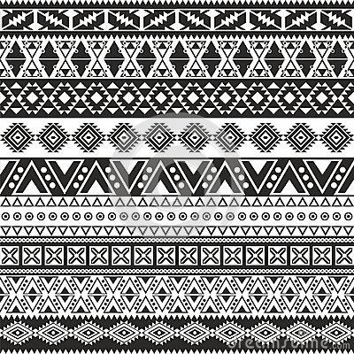 Backpacks Tribal Kalimantan Indonesia Free Seamless Pattern Royalty Stock Photos