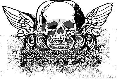Tribal skull illustration