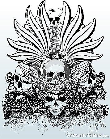 Free Tribal Skulls Illustration Stock Photography - 3434922