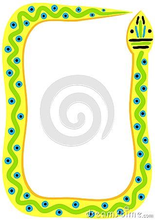 Tribal snake frame border stock images image 30691834 - Image Gallery Snake Borders
