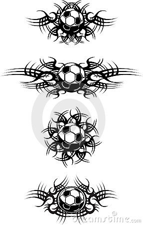 Soccer Tattoos on Royalty Free Stock Photo  Tribal Soccer Balls  Image  10322895