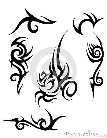 tribal tattoo designs royalty free stock image image 24730686. Black Bedroom Furniture Sets. Home Design Ideas