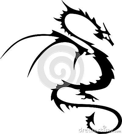 Tribal tattoo of dragon Big tribal