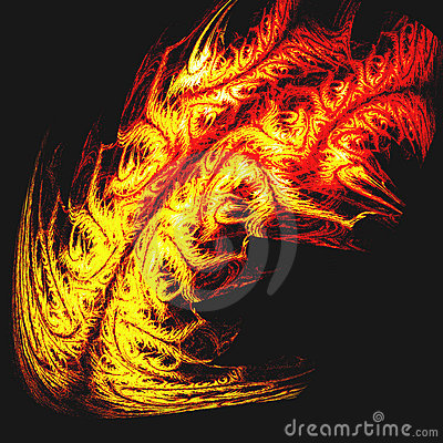 Tribal tattoo of dragon fire or tiger skin