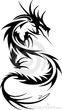 Free Tribal Tattoo Of Dragon Stock Photography - 4470152