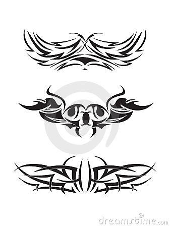 Free Tribal Tattoo Pattern Royalty Free Stock Image - 21111796