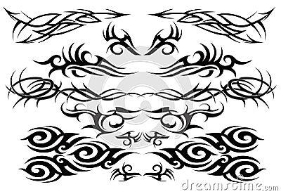 Tribal tattoo set one