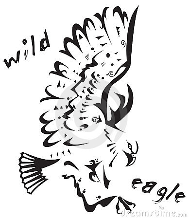Tribal tattoo - Wild eagle