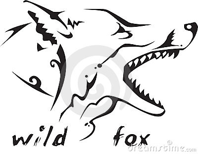 Tribal tattoo wild fox