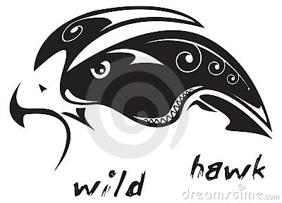 Tribal tattoo Wild hawk
