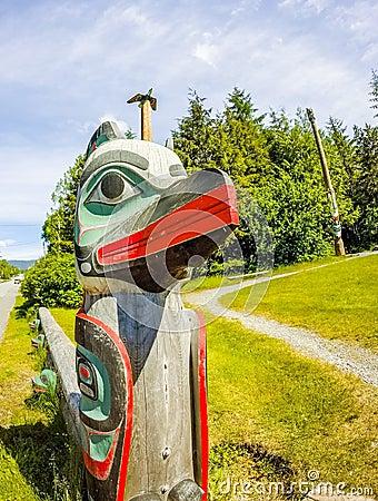Free Tribal Totem Pole In Ketchikan Alaska Stock Photos - 97002723