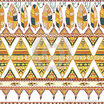 Free Tribal Vector Pattern Royalty Free Stock Photo - 50457575