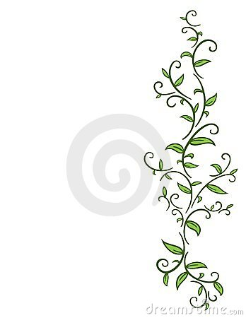 Tribal Vine with Leaves