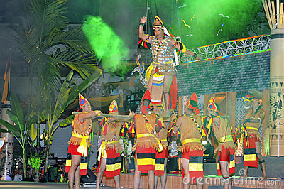 Tribal War Dance Gawai Dayak Editorial Stock Image