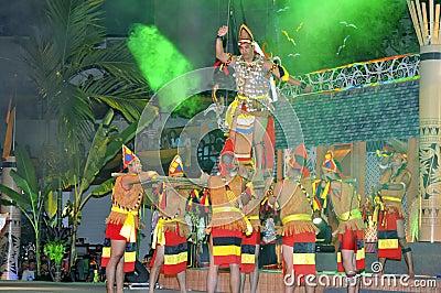 Tribal War Dance Gawai Dayak Editorial Stock Image