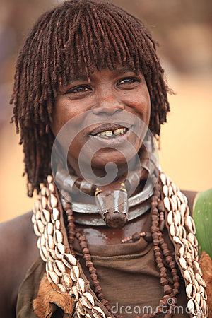 Free Tribal Woman In The Omo Valley In Ethiopia, Africa Royalty Free Stock Photo - 26062655