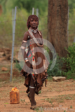 Free Tribal Woman In The Omo Valley In Ethiopia, Africa Royalty Free Stock Photos - 26062768