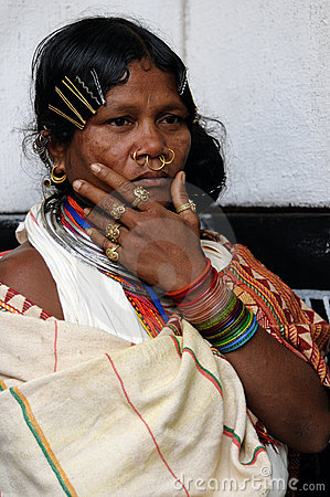 Tribal woman of India Editorial Photography