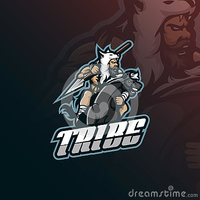 Free Tribe Mascot Logo Design Vector With Modern Illustration Concept Style For Badge, Emblem And Tshirt Printing. Tribe Illustration Stock Image - 135887751