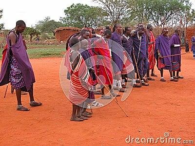 Tribu del Masai Imagen de archivo editorial