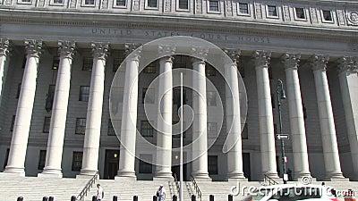 Tribunal de Estados Unidos en New York City metrajes