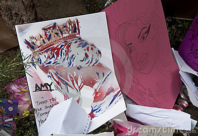 Tribut zum Amy Winehouse Redaktionelles Stockbild