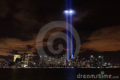 Tribute In Light - 9/11/2010 Editorial Stock Image