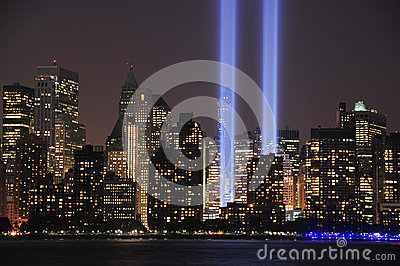 Tribute in Light Close Up Editorial Stock Photo