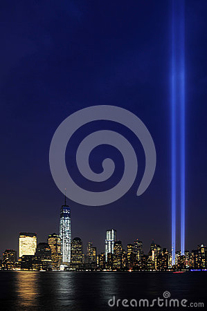 Tribute in Light 9/11 Manhattan 2013 Editorial Stock Image
