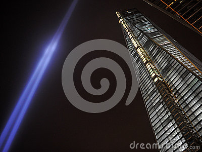 Tribute in Light and One World Trade Center Editorial Photography