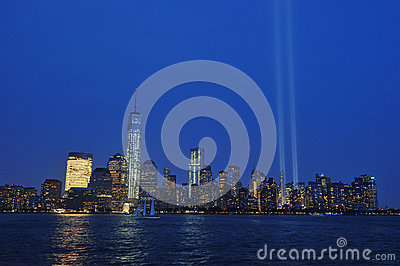Tribute in Light Editorial Stock Photo