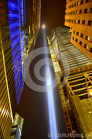 Tribute in Light Editorial Stock Image
