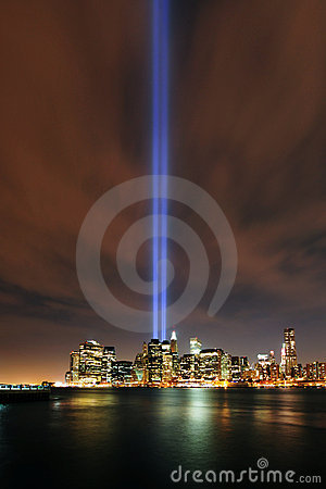 Tribute in Lights, 9/11 Manhattan, 2010 Editorial Stock Photo