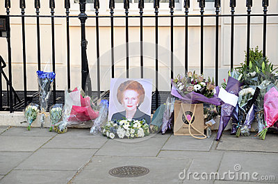 Tributes To Ex British Prime Minster Margret Thatcher Who Died L Editorial Photo