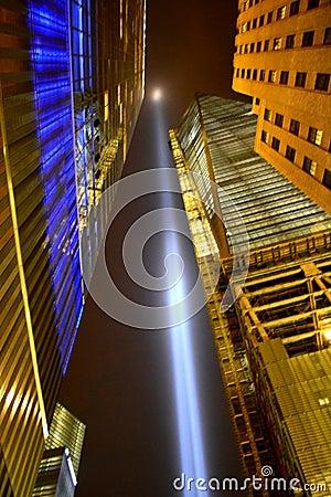 Tributo en luz Imagen de archivo editorial