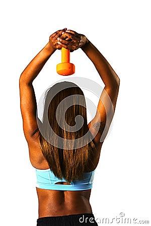 Tricep press orange