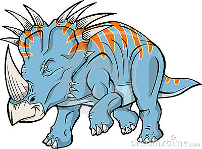 Triceratops Dinosaur Vector
