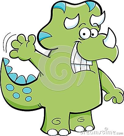 Triceratops Waving